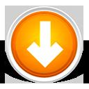 download, freccia, orange, down, circle, arrow icon