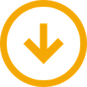 trend, neutral, down, arrow, direction, download icon