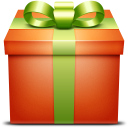 present, box, gift, giftbox, orange icon