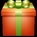 present, box, gift, giftbox, orange icon