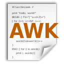 x, awk, application icon