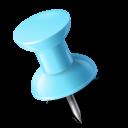Map Marker Push Pin 1 Left Azure icon