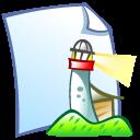 doc, lighthouse, netscape icon