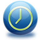 time, sphere, gloss icon