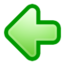 left, previous, backward, back, prev, arrow icon