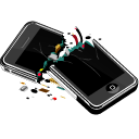 mobile phone, broken, perfect product, smartphone, iphone, apple, cell phone icon