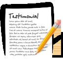 file, document, write, blog, testimonial icon