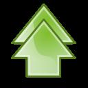 Arrow double up 1 icon