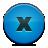 close, button, blue icon