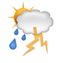 shower, thunder icon