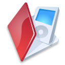 Folder ipod red icon