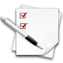 list, checklist, task, test, poll, centang, todo, write, check, equiry icon