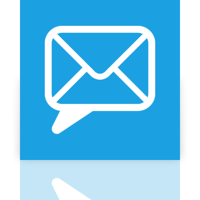 chat, mirror, email icon
