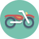 motorscooter, motorcycle, motorbike, scooter icon