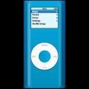 ipod, nano, blue icon