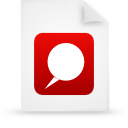 file, document, red, paper icon