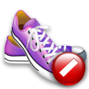 shoes,cancel,stop icon