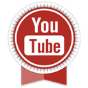 ribbon, youtube, social icon