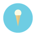 vanilla, ice, cream, dessert, cone icon