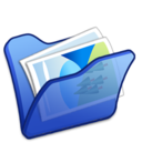 folder,blue,mypictures icon