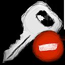 key, delete icon