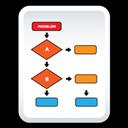 Chart, Document, Flow icon