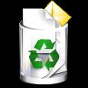 recycle bin, trashcan, full icon