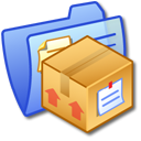 folder, stuff, blue icon