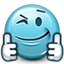 Emot Like Liked Support Thumbs icon