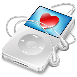 video, apple, white, ipod icon