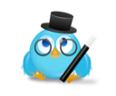 magician, twitter, bird icon