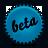 blue, beta, splash icon