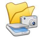 folder,yellow,scanner icon