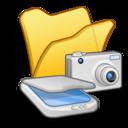 folder,yellow,scanner icon