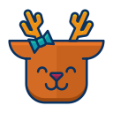 smile, deer, reindeer, emot, happy, emoji icon