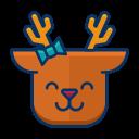 smile, deer, reindeer, emot, happy, emoji icon