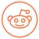 social, reddit, network, neon, line, business, chart icon