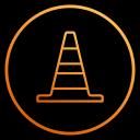 film, program, app, vlc, cone, player, video icon