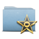 folder,blue,movie icon