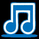 blue, music, node icon