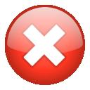 cancel, no, stop, close icon