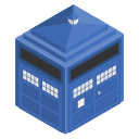 police, doctorwho, cabin, tardis, blue, box icon