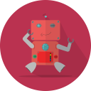 fun robot, robotic, mascot, robot, space, technology, robot expression, metal, android, mechanical icon