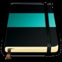 moleskine turquoise 512 icon