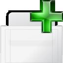 new, tab, bg icon
