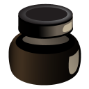 inkpot, ink icon