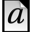 type, font icon