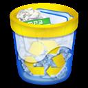 Llena, Papelera, Recycle icon