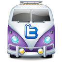 twitter bus purple icon
