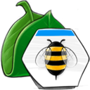 leaf,bee icon